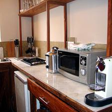 Well equipped kitchen with Nespresso coffee machine.